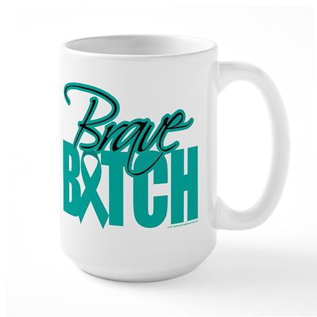Brave Bitch Cervical Cancer Large Mug
