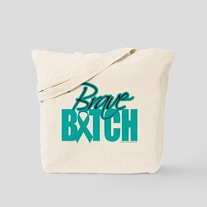 Brave Bitch Cervical Cancer Tote Bag