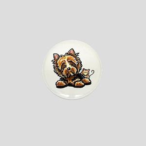 Norwich Terrier Cartoon Mini Button
