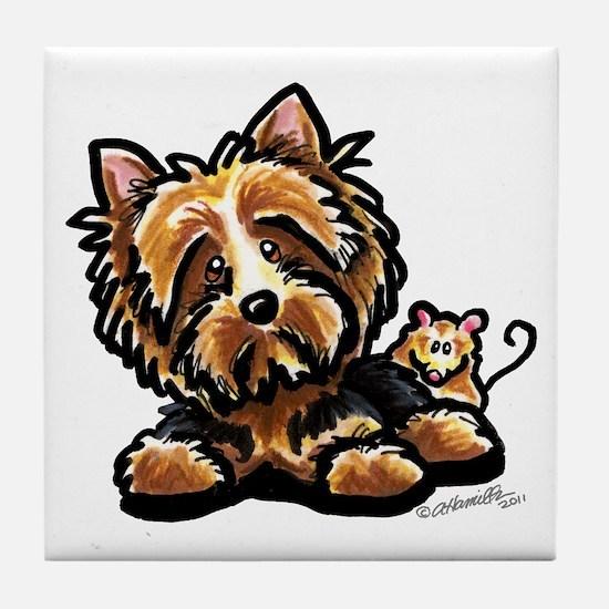 Norwich Terrier Cartoon Tile Coaster