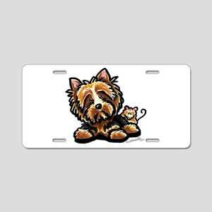 Norwich Terrier Cartoon Aluminum License Plate