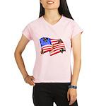 American Flag Butterflies Performance Dry T-Shirt