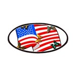 American Flag Butterflies Patches