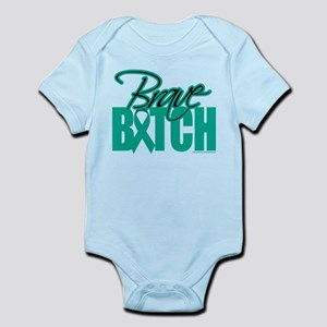 Brave Bitch Ovarian Cancer Infant Bodysuit