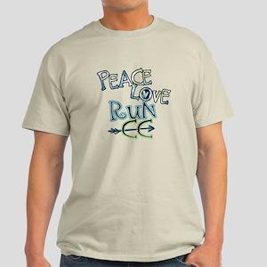 Peace Love Run CC Light T-Shirt