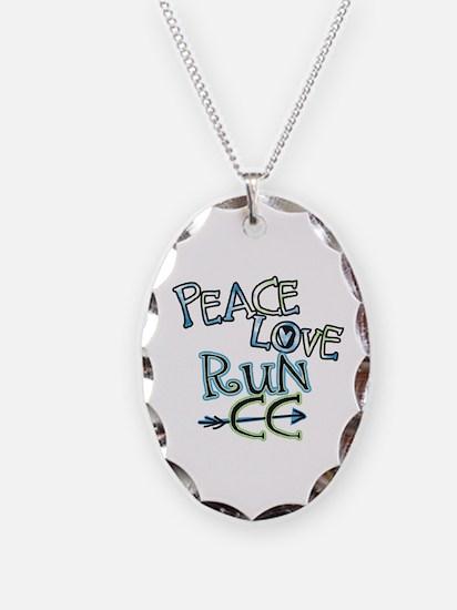 Peace Love Run CC Necklace