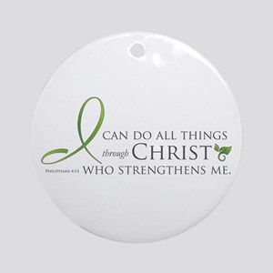 I can do all things through Christ Ornament (Round