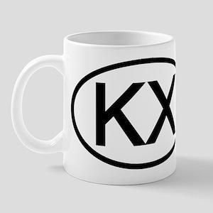 KX - Initial Oval Mug