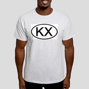 KX - Initial Oval Ash Grey T-Shirt