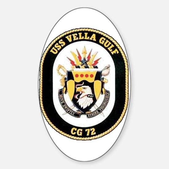USS Vella Gulf CG-72 Oval Decal