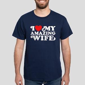 I Love My Amazing Wife Dark T-Shirt