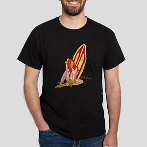 Hana Hou Surfer Hula Girl Dark T-Shirt