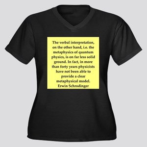 Erwin Schrodinger quotes Women's Plus Size V-Neck