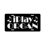 Organ Music License Plate Gift