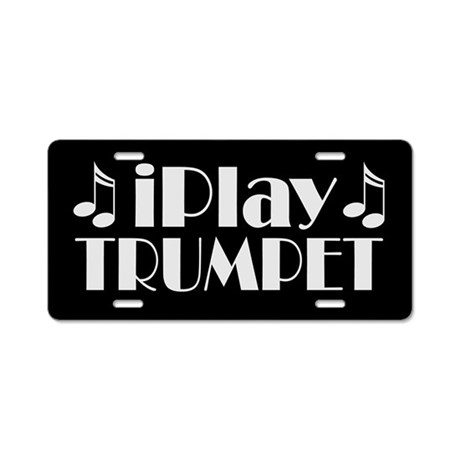 Trumpet Music License Plate Gift