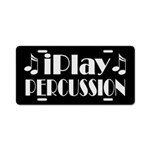 Percussion Music License Plate Gift