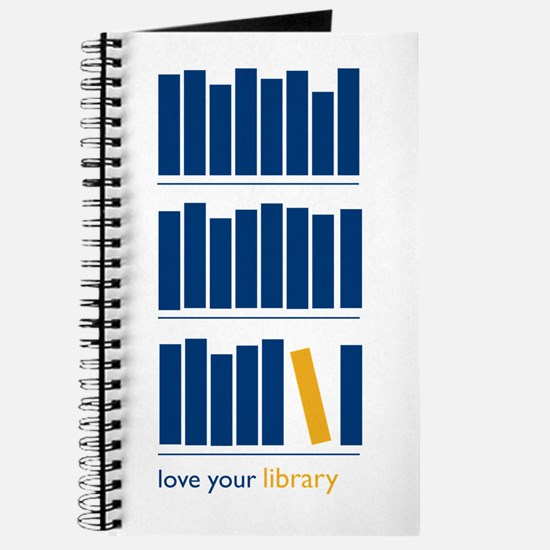 Love Your Library (blue art) Journal