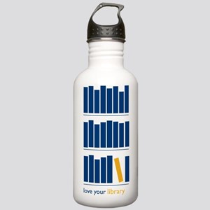 Love Your Library (blu Stainless Water Bottle 1.0L