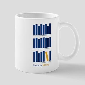 Love Your Library (blue art) 11 oz Ceramic Mug