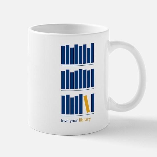 Love Your Library (blue art) Mug