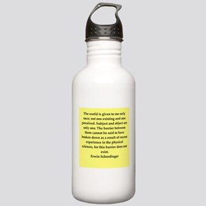 Erwin Schrodinger quotes Stainless Water Bottle 1.