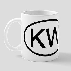 KW - Initial Oval Mug