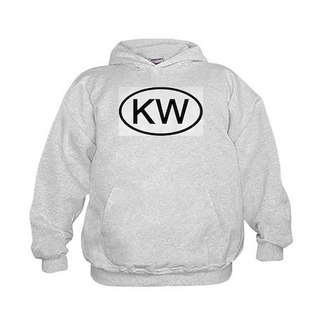 KW - Initial Oval Kids Hoodie