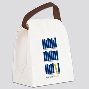 Love Your Library (blue art) Canvas Lunch Bag