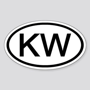 KW - Initial Oval Oval Sticker
