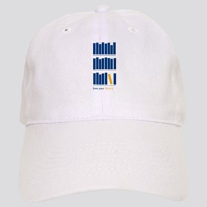 Love Your Library (blue art) Cap