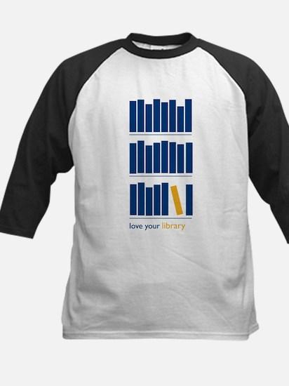 Love Your Library (blue art) Kids Baseball Jersey