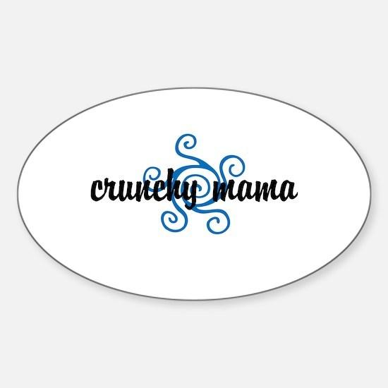 Crunchy mama Sticker (Oval)