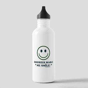 Boobies Make Me Smile Stainless Water Bottle 1.0L