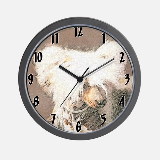 Chinese Crested (Hairless) Wall Clock