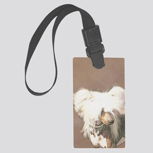 Chinese Crested (Hairless) Large Luggage Tag