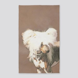 Chinese Crested (Hairless) Area Rug