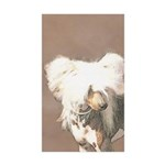 Chinese Crested (Hairles Sticker (Rectangle 10 pk)