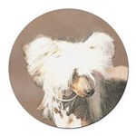 Chinese Crested (Hairless) Round Car Magnet
