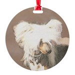 Chinese Crested (Hairless) Round Ornament