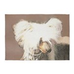 Chinese Crested (Hairless) 5'x7'Area Rug