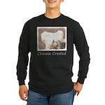 Chinese Crested (Hairless Long Sleeve Dark T-Shirt
