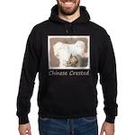 Chinese Crested (Hairless) Hoodie (dark)