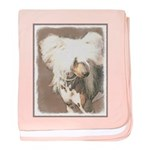 Chinese Crested (Hairless) baby blanket