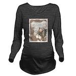 Chinese Crested (Hai Long Sleeve Maternity T-Shirt
