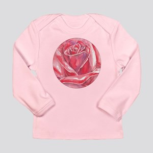 big red rose blossom Long Sleeve Infant T-Shirt