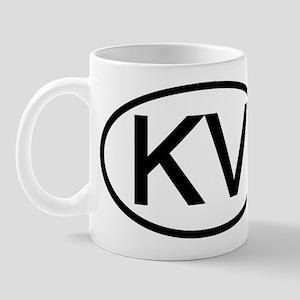 KV - Initial Oval Mug
