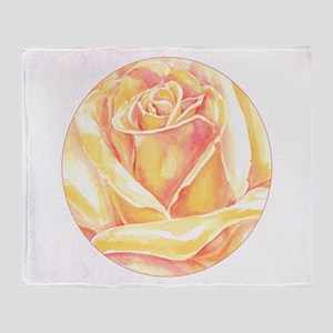 peach rose blossom Throw Blanket