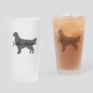 Golden Retriever Drinking Glass