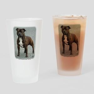 Staffordshire Bull Terrier 9F23-12 Drinking Glass