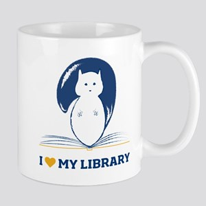 I Heart My Library Mugs